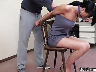 Bondage fetish sub humiliated by maledom