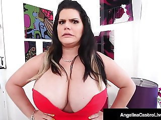 Cuban BBW Angelina Castro Gives Trainer Titty Fuck & BlowJob
