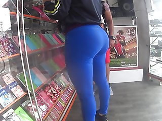 leggings blue great ass