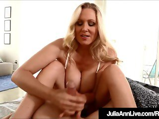Step Mother Julia Ann Wakes Up Step Son With Handjob!