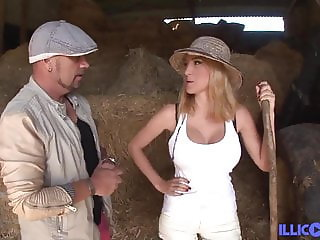 Valeria latina fucked on a tractor