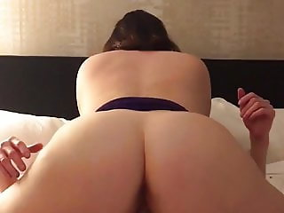 Amateur hotwife riding stranger while husband records