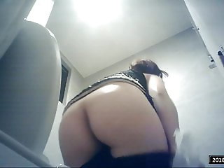 Beautiful girl toilet cam