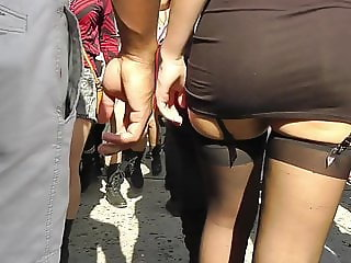 candid black stockings