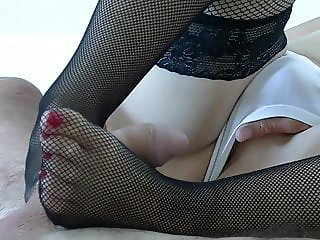 feet and cum in mouth