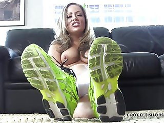 Suck on my cute green pedicured toes JOI