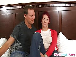 Redhead milf with pierced tits playing with my cock.mp4