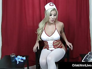 Hot Sperm Bank Nurse Cristi Ann Assists Your Cock!