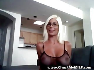 Check My MILF Busty bombshell wife in fishnet stockings