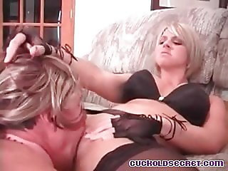 Cuckolds wife fucked by big cock friends Sissy humiliated
