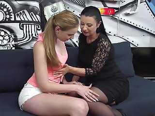 Mature mother seduce young beautiful daughter