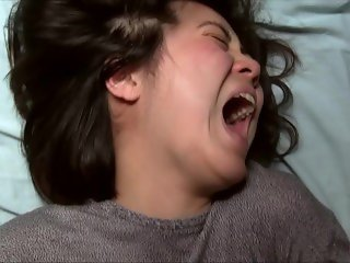 Asian Woman's Massive Orgasm Face With Mouth Wide Open