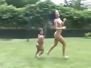 Lucky little  man fucked beautiful woman