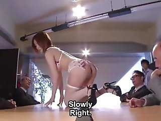 Made to model lingerie  JAV english subtitle