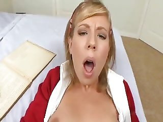 Blond Schoolgirl POV Riding Cock