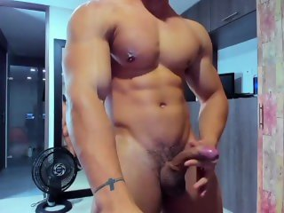 DANTE SANTOS HOT STUD SHOOT ON HIS HAND AND EATING CUM