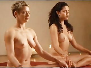 yoga teaching 2 woman naked
