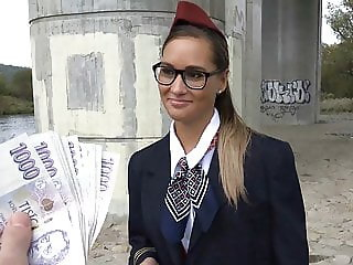 Stewardess Gets Cash for Sex