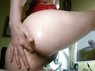 29yr Old Spanish XH Slut: Anal Finger Fucking Tribute to Me