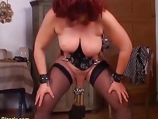 german mom enjoys a extreme pussy torture