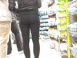 Cute Teen Spandex Butt