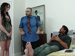 Bored Husband Sharing His Wife