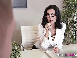 Office Milf fucks young Boy