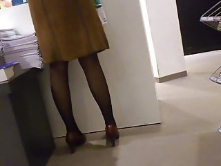 Nylons and Heels Candid