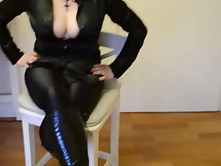 Satin Blouse Leggings Boots