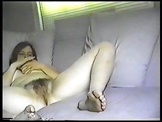 Big Hairy Swedish Teen Has 2 Orgasms Watching Porn In Sofa