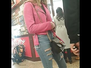 hidden cam ass jeans creep candid teen