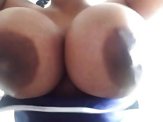 Big Black Natural Tits Bouncing