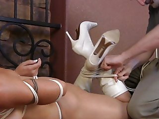 Willingly Helpless In White Boots