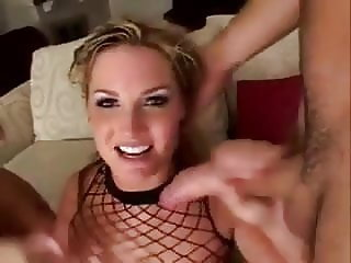 Teen Blonde Slut Fucked HARD in Ass DP