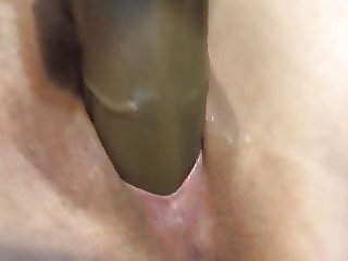 Big dildo fills me up