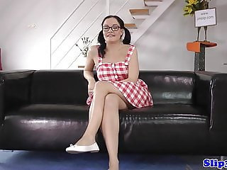 Bigtits spex teen POV banged by old man
