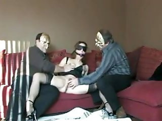 Slut fucked by old guys
