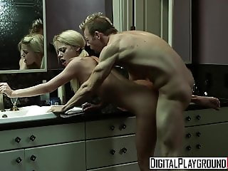 Riley Steele Erik Everhard - Cooking With Kayden Scene 2