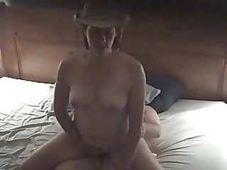 Cowgirl Rides Cock to Orgasm