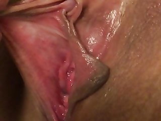 Licking her horny wet pussy