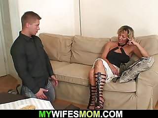 Girlfriends hot mom sucking and riding his cock