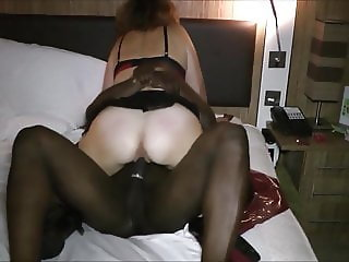 Wife takes big hard cock on hotel room