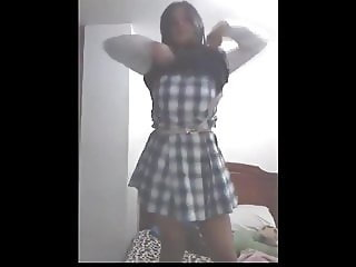 Schoolgirl latin strip