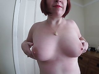Shy Mom strips off nude
