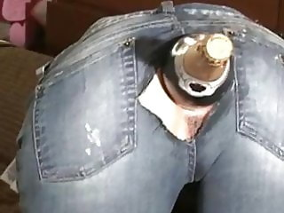 Ass fisting  in jeans
