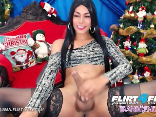 Violet Queen on Flirt4Free Transgender - Sexy Tgirl Celebrates the Holidays