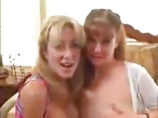 Threesome with two hot milfs
