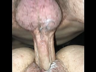 Super wet and juicy hairy BBW gets her soaked pussy pounded