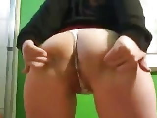 Asian Milf twerk pt 2 Spread Ass and Wedgie Shake