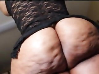 Juicy Ebony Granny Cellulite Booty Worship